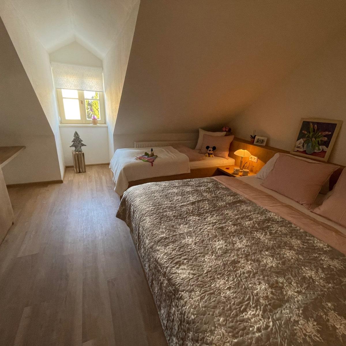 Apartmán Attic - ložnice