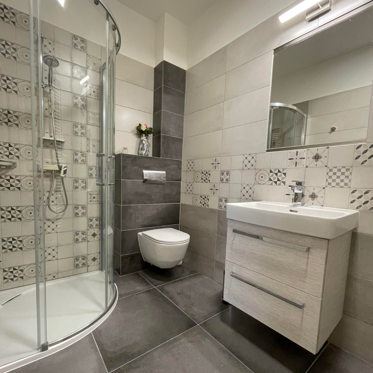 Apartmán Couple - koupelna se sprchou