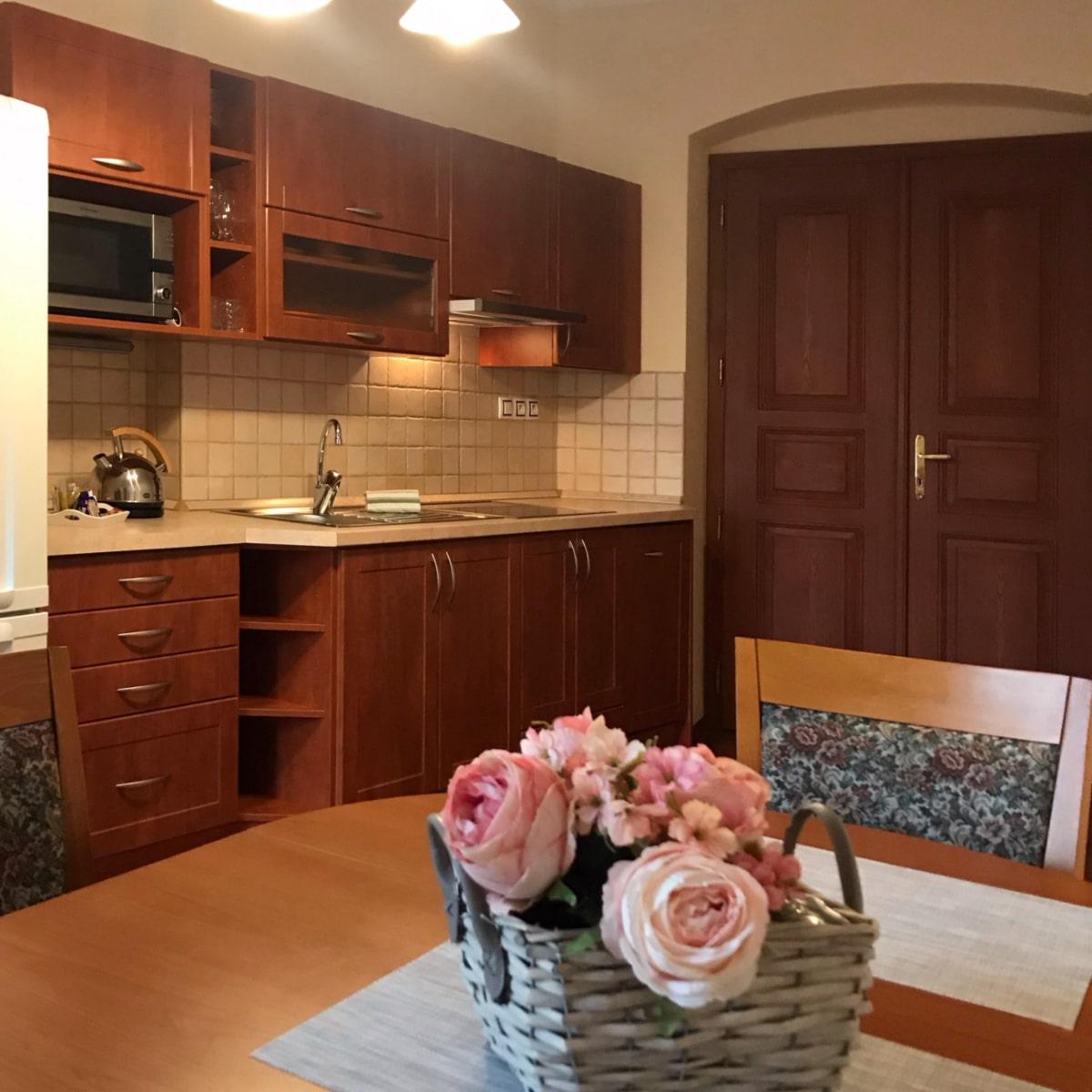 Apartmán Superior - kuchyně s jídelním koutem